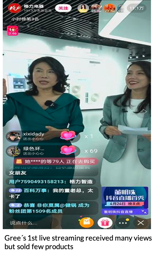 China live streaming case