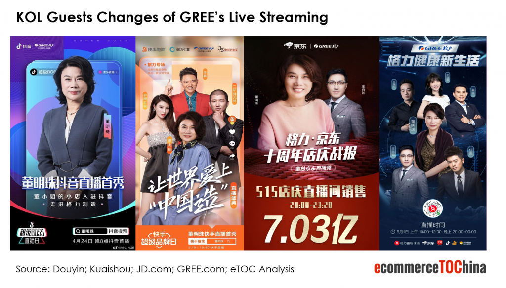 Gree Live Streaming KOL Guests